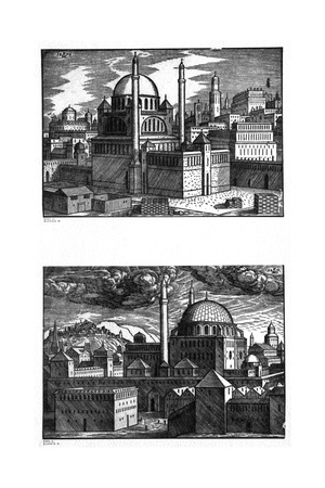 Mosques of Constantinople, 1570 Giclee Print by Melchior Lorck