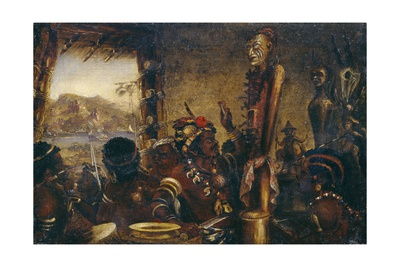 African War Fetish, Taken by the Boats of Hms Archer in 1865, in the River Congo, 1865 Giclee Print by Thomas Baines