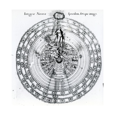 The Correspondence Between the Human and the Universe, from Robert Fludd's 'Utriusque Cosmi… Giclee Print