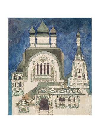 Unrealised Design for a Church at Talashkono, 1899 Giclée-Druck von Mikhail Aleksandrovich Vrubel