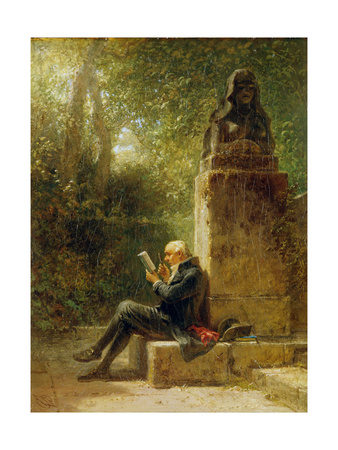 The Philosopher (The Reader in the Park) Giclee Print by Carl Spitzweg