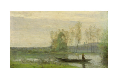 The Punt, 1870 Giclee Print by Jean-Baptiste-Camille Corot
