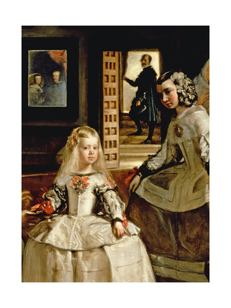 Las Meninas, Detail of the Infanta Margarita and Her Maid, 1656 (Detail) Giclee Print by Diego Rodriguez de Silva y Velazquez