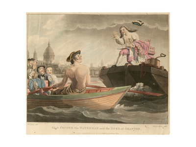 Old Copper the Waterman and the Duke of Grafton Giclee Print by William Henry Pyne