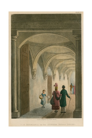 Box Entrance to the English Opera House (Lyceum Theatre) Giclee Print by Daniel Havell