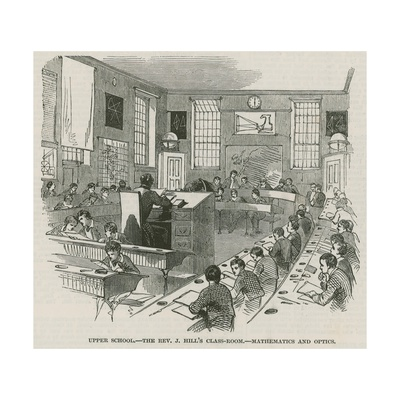 The Greenwich Royal Hospital Schools; Upper School: the Reverend J Hill's Classroom Giclee Print