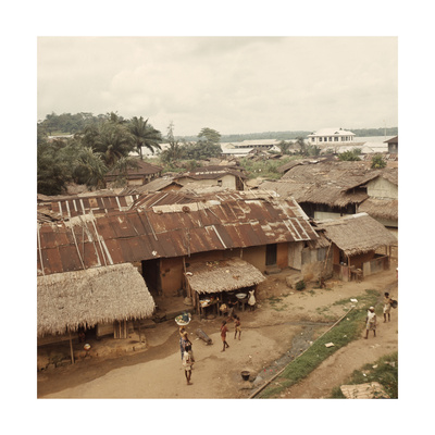 View of the Niger Delta Trading Port of Calabar Giclee Print