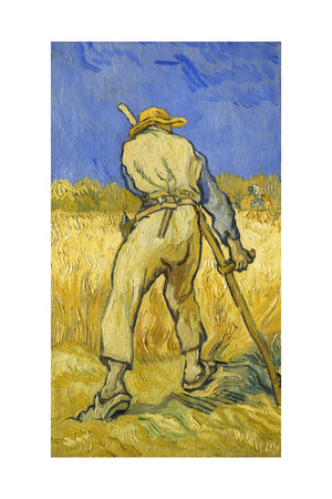 The Reaper; Le Moissonneur, 1889 Giclee Print by Vincent van Gogh