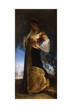 The Beautiful Moroccan; La Belle Marocaine, 1880 Giclee Print by Edouard Frederic Wilhelm Richter