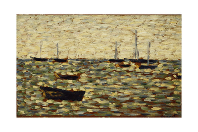 The Sea at Grandcamp; La Mer a Grandcamp, 1885 Giclee Print by Georges Seurat