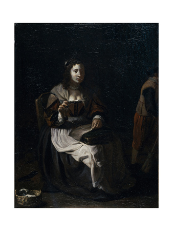 A Woman Sewing Giclee Print by Michael Sweerts
