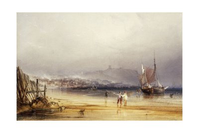 Scarborough Castle from the South, 1838 Giclee Print by Anthony Vandyke Copley Fielding