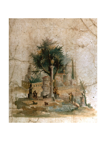 A Fresco from the Villa of Agrippa Postumus at Boscotrecase, Pompeii Giclee Print
