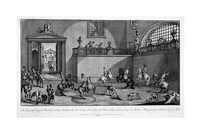 Illustration from 'Le Nouveau Manege', 1776 Giclee Print by Johann Elias Ridinger