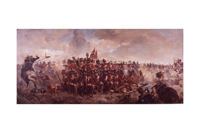 The Battle of Waterloo Giclee Print