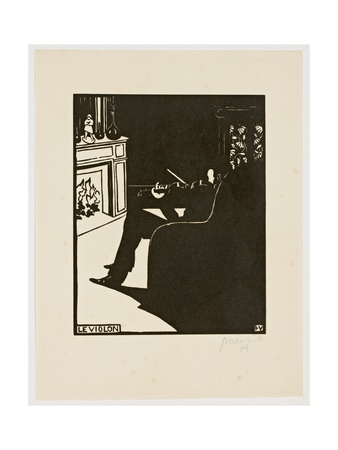 The Violin, from the Series 'Musical Instruments', 1896-97 Giclee Print by Félix Vallotton