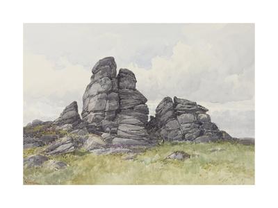Vixen Tor, Near Merivale Bridge, Dartmoor , C.1895-96 Giclee Print by Frederick John Widgery