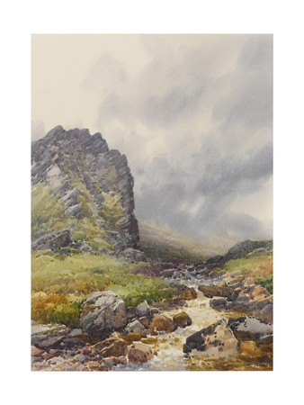 Dewerstone, Dartmoor , C.1895-96 Giclee Print by Frederick John Widgery
