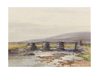 Cyclopean Bridge (Post Bridge, Dartmoor) , C.1895-96 Giclee Print by Frederick John Widgery
