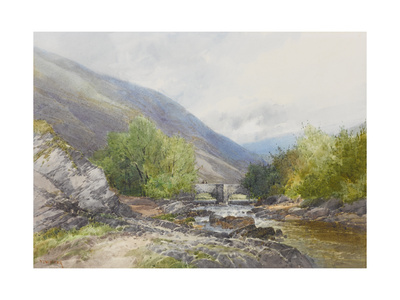 Fingle Bridge on the Teign , C.1895-96 Giclee Print by Frederick John Widgery