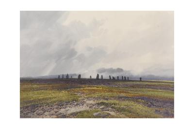 Sacred Circle, Mis Tor, Langstone Moor, Dartmoor , C.1895-96 Giclee Print by Frederick John Widgery