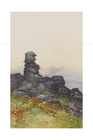 BowermanS Nose, Manaton Dartmoor , C.1895-96 Giclee Print by Frederick John Widgery