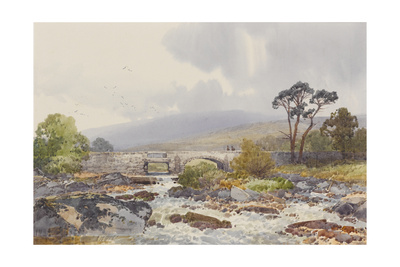 Hill Bridge on the Tavy , C.1895-96 Giclee Print by Frederick John Widgery