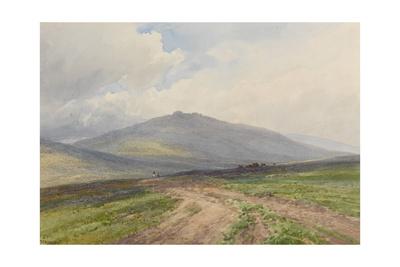 Yes Tor Near Okehampton, Dartmoor , C.1895-96 Giclee Print by Frederick John Widgery