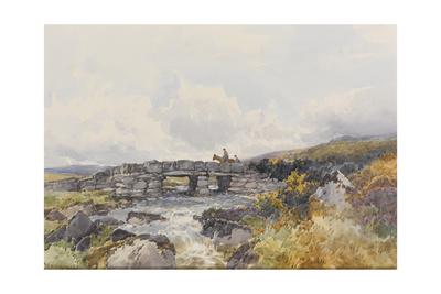 Leather Tor Bridge , C.1895-96 Giclee Print by Frederick John Widgery