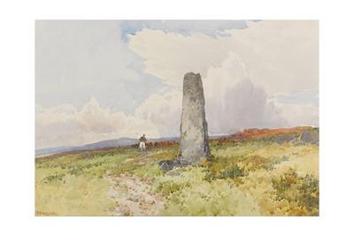 Menhir Near Merivale Bridge , C.1895-96 Giclee Print by Frederick John Widgery