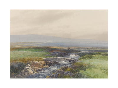 Wallabrook, Clapper Bridge, Dartmoor , C.1895-96 Giclee Print by Frederick John Widgery