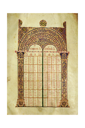 Illuminated Canon Tables to the Gospels Giclee Print