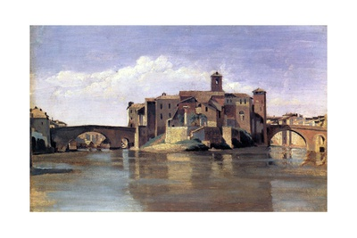 The Island of San Bartolomeo, 1826-28 Giclee Print by Jean-Baptiste-Camille Corot