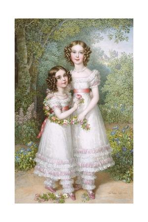 The Talbot Sisters Giclee Print by Johann Nepomuk Ender