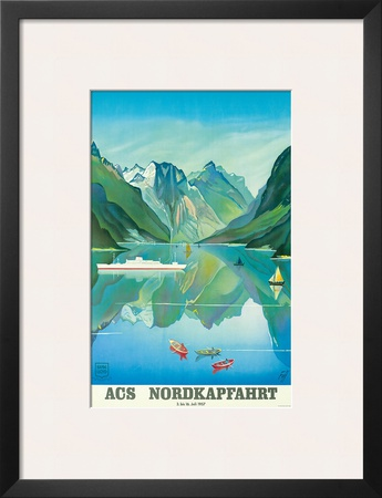 HAPAG Cruise Line: Nordkapfahrt - North Cape and Norwegian Fjords, c.1957 Posters