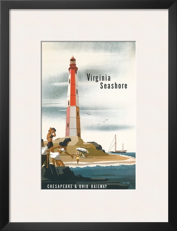 Chesapeake & Ohio Railroad: Virginia Seashore, c.1950s Prints by Bern Hill