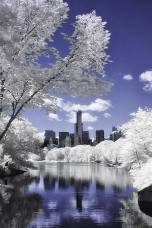 Infrared Reflections at Central Park Photographic Print by Vincent James