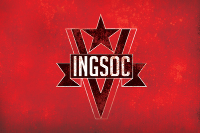 1984 INGSOC Big Brother Political Flag Plastic Sign Plastic Sign