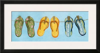 Flip Flops I Prints by Charlene Winter Olson