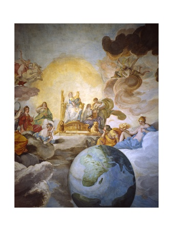 Allegory of Divine Wisdom, 1629-33 Giclee Print by Andrea Sacchi