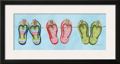Flip Flops II Poster by Charlene Winter Olson