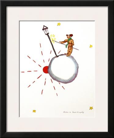 The Lamp Lighter Print by Antoine de Saint-Exupéry
