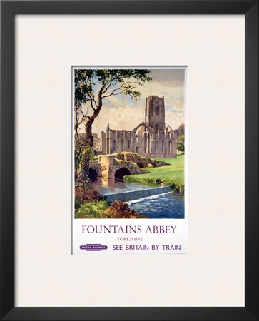 Fountains Abbey, Yorkshire, BR (NER), c.1956 Print