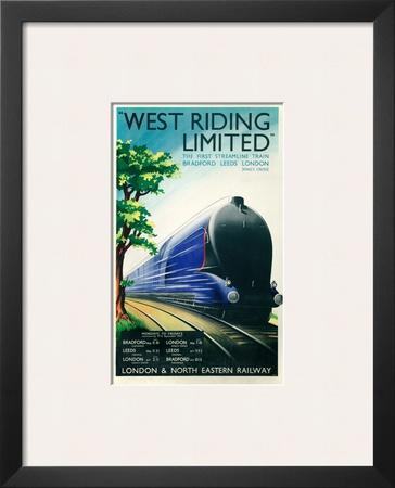 West Riding Limited, Steamline Train, Bradford, Leeds, London Posters