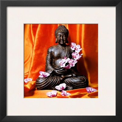 Buddha with Flowers Prints by Stephane De Bourgies