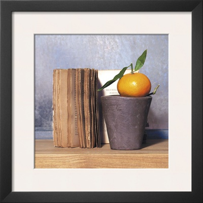 Orange and Book Prints by Amelie Vuillon