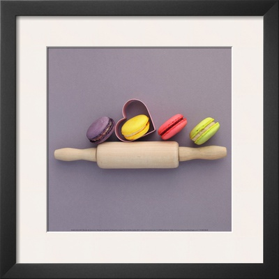 Recipe of Macarons Poster by Amelie Vuillon