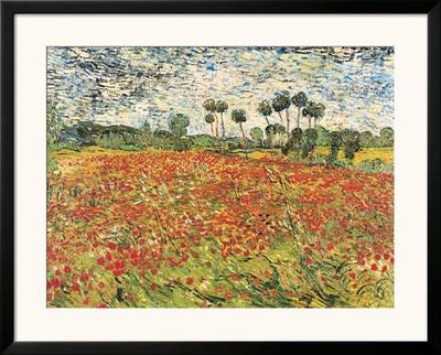 Field of Poppies, Auvers-Sur-Oise, c.1890 Prints by Vincent van Gogh