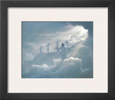 Three Crosses Print by Danny Hahlbohm