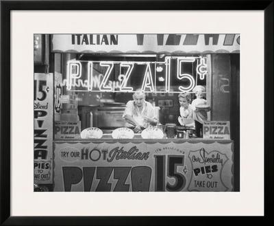 Hot Italian Pizza Print by Nat Norman